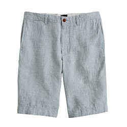 "10.5"" Stanton short in heathered Irish linen"