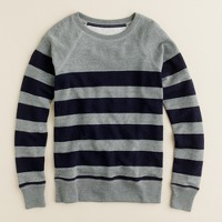 Stripe popover sweatshirt