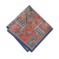 Drake's® silk habotai deco paisley handkerchief<BulletPoint></BulletPoint>