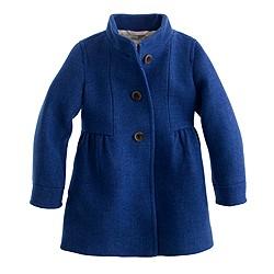 Girls' stadium-cloth marquee coat