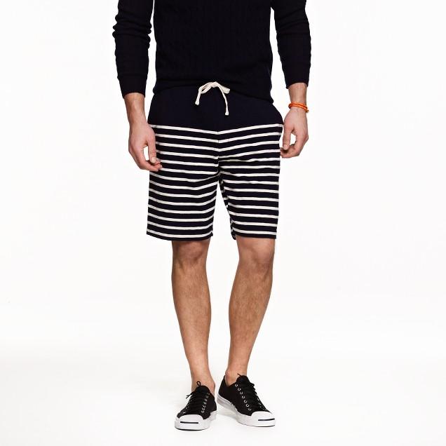 Heavyweight cotton short in stripe