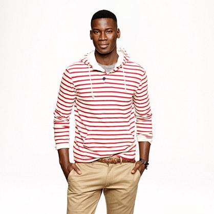 Halyard hoodie in classic stripe