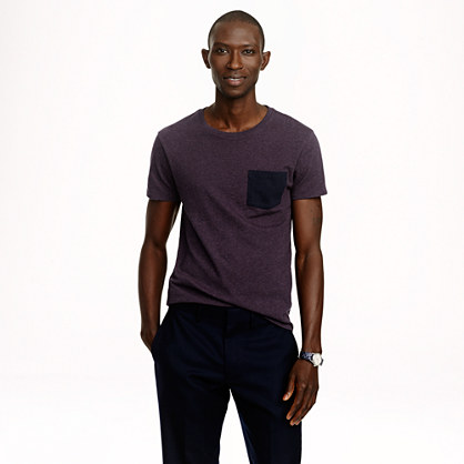 Slim flagstone contrast pocket T-shirt