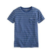 Flagstone pocket tee in deep pacific stripe