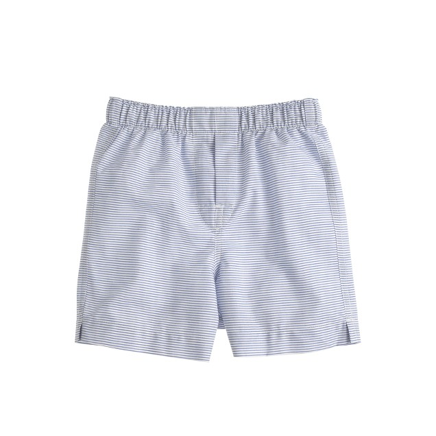 Boys' yarn-dyed printed cotton boxers