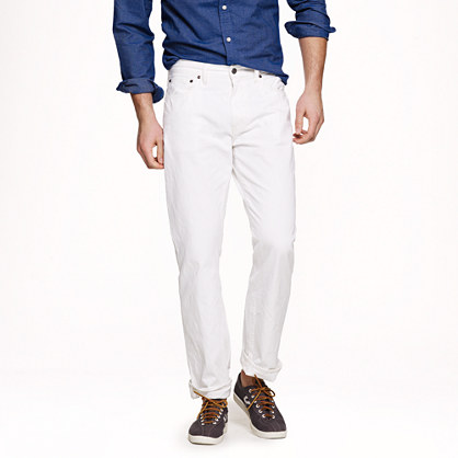 Slim-straight jean in white wash