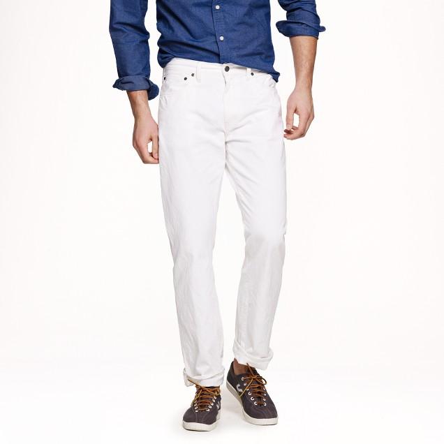 Slim-straight jean in white wash
