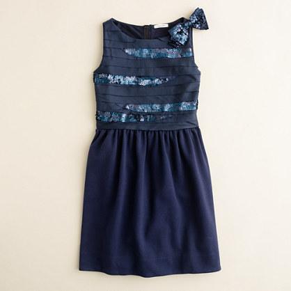 Girls' sequin slice dress