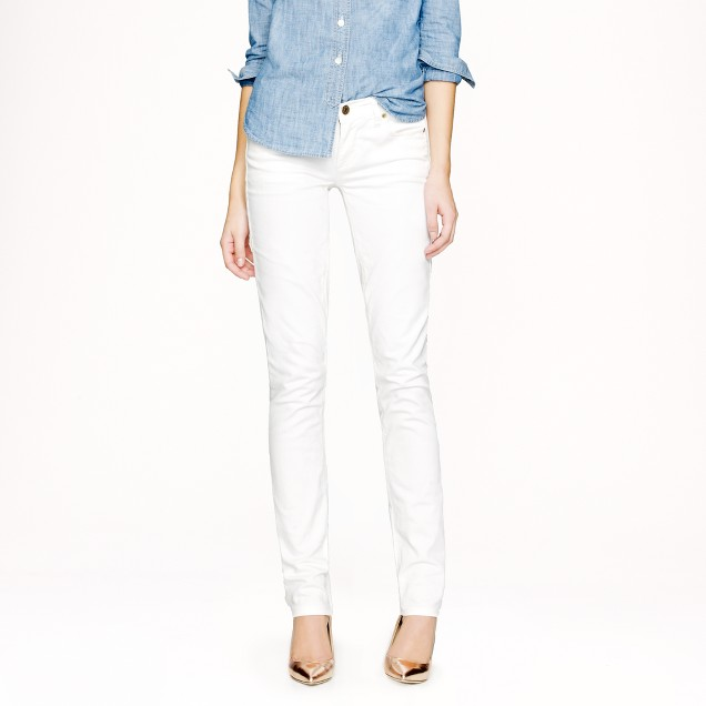 Matchstick jean in white