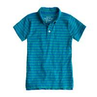 Boys' slub cotton polo in stripe