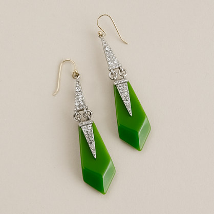 Lulu Frost for J.Crew resin and crystal appliqué earrings