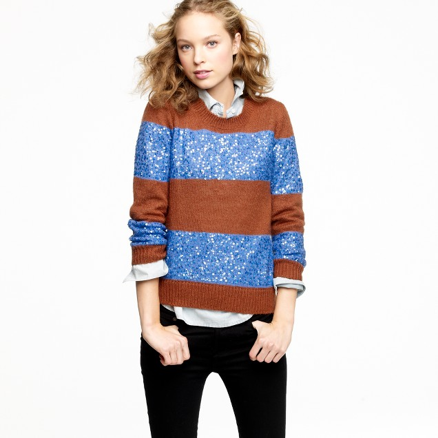 Wynter sweater in sequin stripe