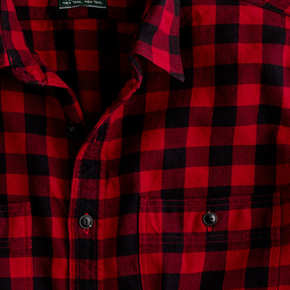 Vintage flannel shirt in buffalo plaid casual shirts j for Buffalo plaid men s shirt