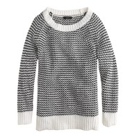 Graphic-stitch sweater