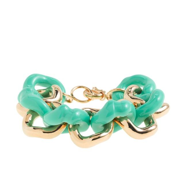 Classic link enameled bracelet