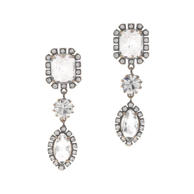 Crystal bauble earrings