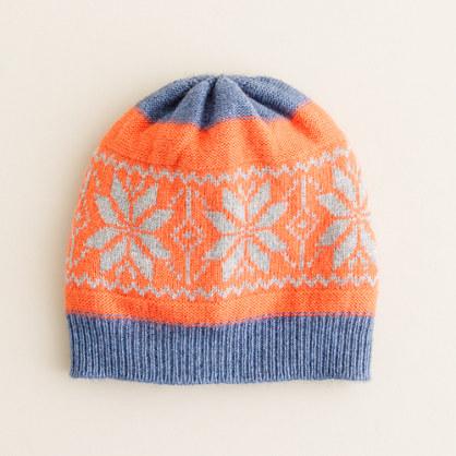 Boys' dream snowflake hat