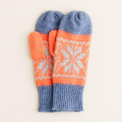 Boys' dream snowflake mittens