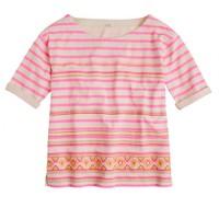 Stitchwork stripe top