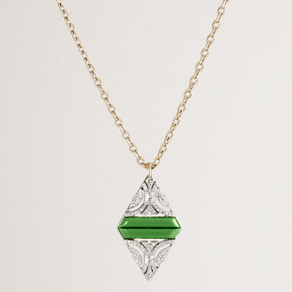 Lulu Frost for J.Crew crystal duette pendant necklace