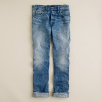 Wallace & Barnes slim selvedge jean in salt fade wash