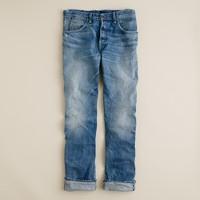 Wallace & Barnes slim selvedge jean in salt fade wash