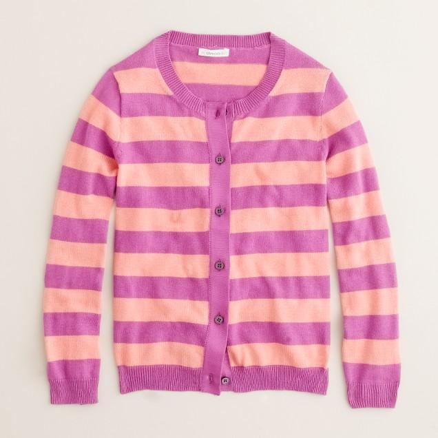 Girls' stripe Caroline cardigan