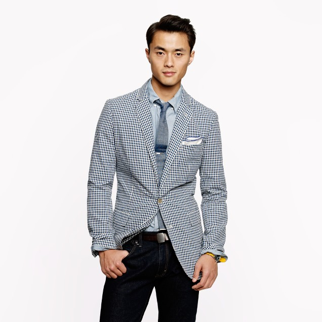 Unconstructed Ludlow sportcoat in gingham