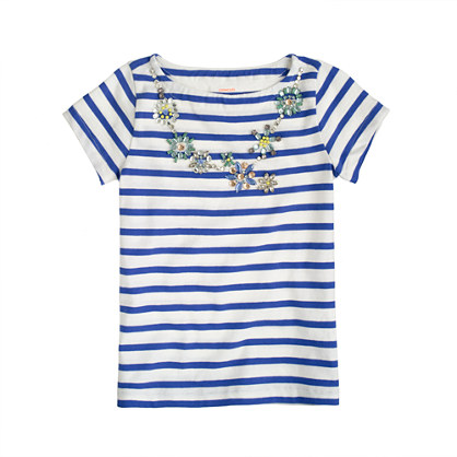 Girls' collectible necklace tee