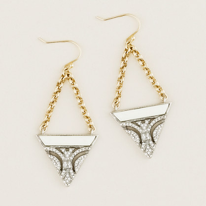 Lulu Frost for J.Crew crystal and resin earrings