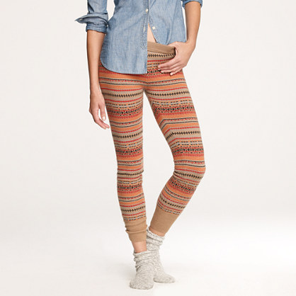 Fair Isle sweater-leggings