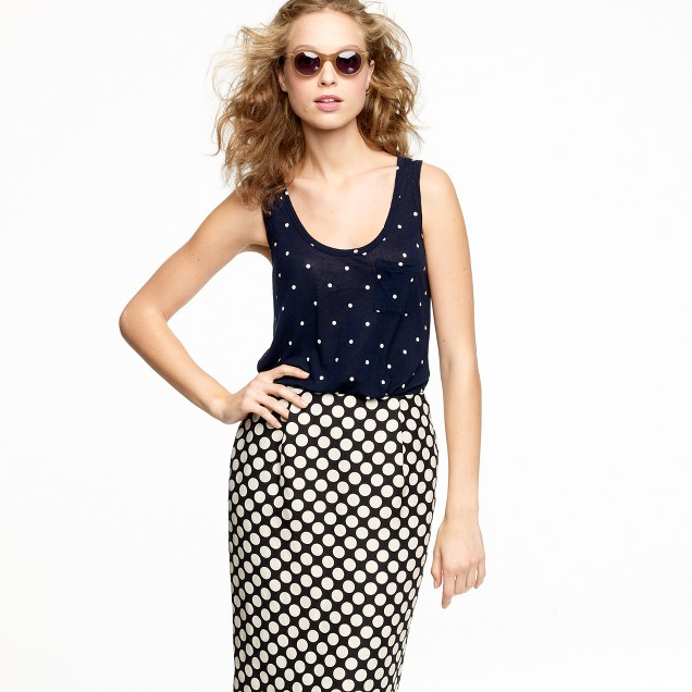 Pocket polka-dot tank