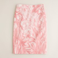 No. 2 pencil skirt in waterfloral