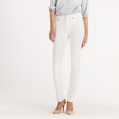 High-waisted skinny jean in white