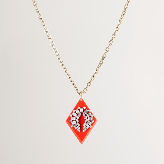 Lulu Frost for J.Crew crystal horseshoe necklace