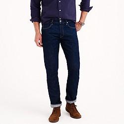 Wallace & Barnes slim selvedge jean in White Oak Cone Denim® with rinsed wash