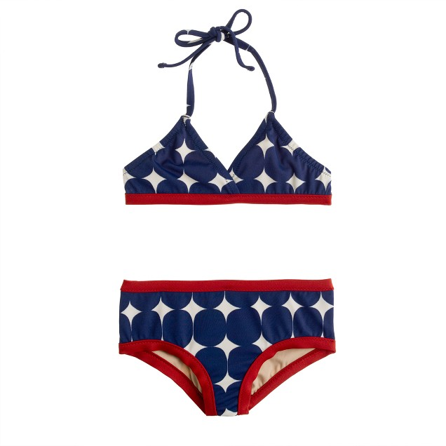 Girls' big dot bikini set