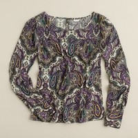 Talitha blouse in royal paisley