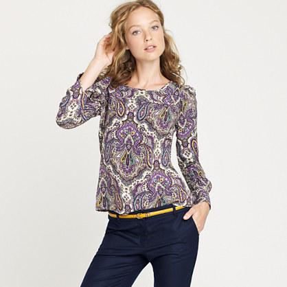 Talitha blouse in royal paisley