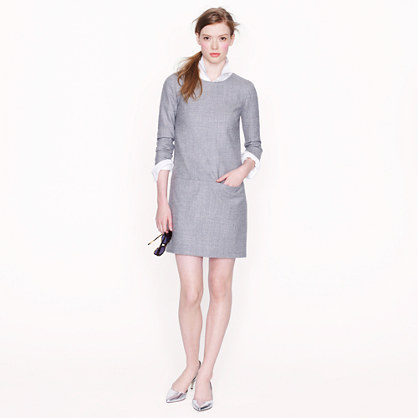 Jules dress in heathered wool