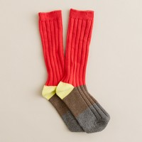 Boys' marled boot socks