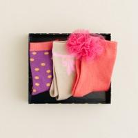 Girls' holiday socks three-pack