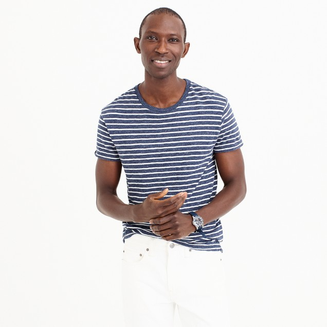 Nautical-striped heathered T-shirt