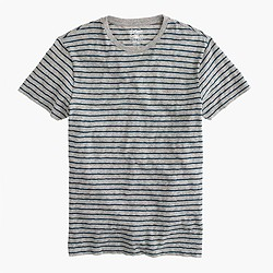 Nautical-striped heathered T-shirt
