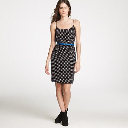 Blouson dress in polka dot