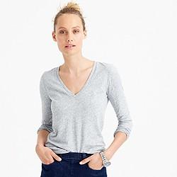 Vintage cotton long-sleeve V-neck T-shirt
