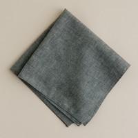 Grey chambray pocket square