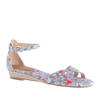 Marina mini-wedge espadrilles in Liberty print