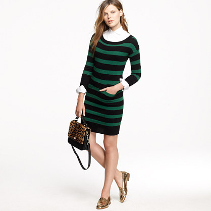 Stripe sweater-dress