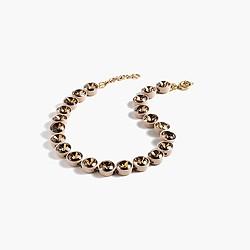 Crystal brûlée necklace
